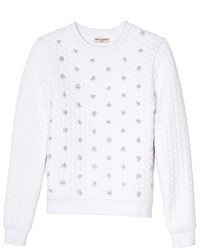 Opening Ceremony Sparrow Quilted Embellished Sweatshirt