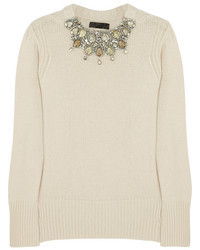 Burberry Prorsum Crystal Embellished Cashmere Sweater