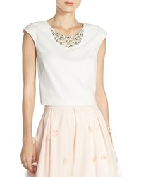 Eliza J Embellished Crop Top