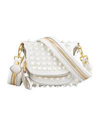 White Embellished Crossbody Bag