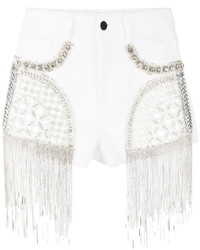 Amen Embellished Denim Shorts