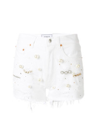 Forte Dei Marmi Couture Pearl Embellished Denim Shorts