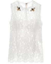 Cordonetto lace embellished sleeveless top medium 726931