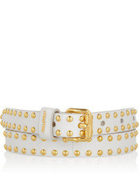 Miu Miu Studded Textured Leather Belt