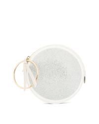 Sara Battaglia Embellished Round Clutch
