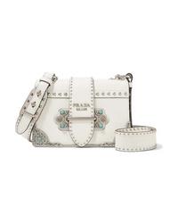 427b6d51d63c Women's White Crossbody Bags by Prada | Women's Fashion | Lookastic.com