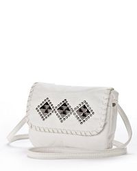 Candies Candies Washed Studded Diamond Crossbody Bag