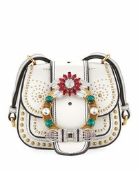 Miu Miu Embellished Lady Saddle Bag