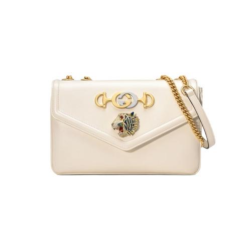 73022c7696aa14 Gucci Medium Rajah Shoulder Bag, $2,780 | farfetch.com | Lookastic.com