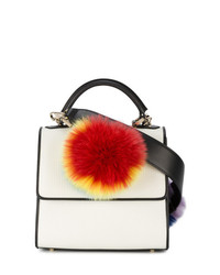 Les Petits Joueurs Mini Alex Shoulder Bag With Rainbow Fur