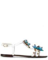 Flower embellished sandals medium 5275366