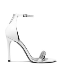 Calvin Klein 205W39nyc Camelle Crystal Embellished Leather Sandals