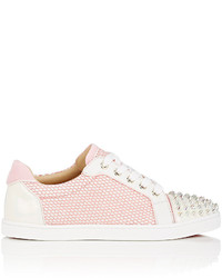 Christian Louboutin Gondolita Flat Mesh Leather Sneakers