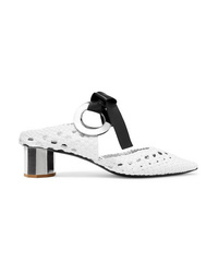58d35683fb40 Proenza Schouler Eyelet Embellished Woven Leather Mules