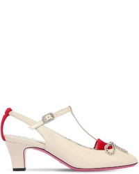 Gucci 55mm Anita Crystal Bow Leather Pumps