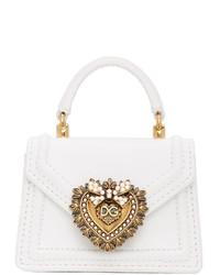 Dolce And Gabbana White Small Devotion Bag