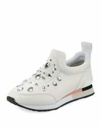 Tory Burch Laney Embellished Slip On Sneaker White