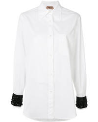 No.21 No21 Bead Embellished Cuff Shirt