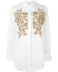 P.A.R.O.S.H. Gold Tone Embellished Shirt