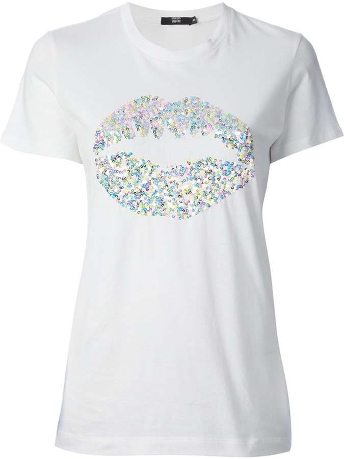 markus lupfer sequin lips logo t shirt where to buy how to