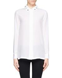 Nobrand Cindy Riveted Silk Shirt