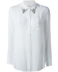 Equipment Embellished Collar Shirt