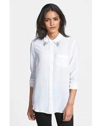 3e81680510e017 ... Equipment Reese Embellished Silk Shirt ...