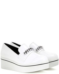 Stella McCartney Embellished Faux Leather Platform Slip On Sneakers