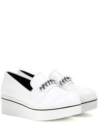 Stella McCartney Embellished Faux Leather Platform Slip On Sneakers