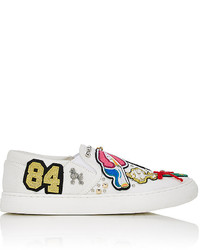 Marc Jacobs Mercer Canvas Slip On Sneakers