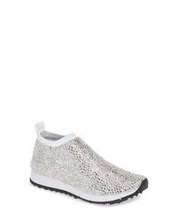 Jimmy Choo Nowary Crystal Embellished Slip On Sneaker