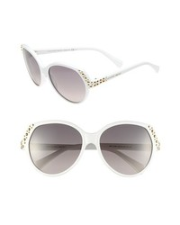 Alexander McQueen Studded Sunglasses White One Size