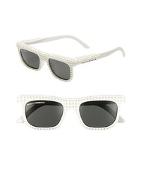 MOSTLY HEARD RARELY SEEN 55mm Nanoblock Sunglasses White One Size