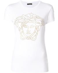 Versace Crystal Embellished Medusa T Shirt