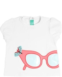 fe-fe Embellished Cotton Poplin T Shirt