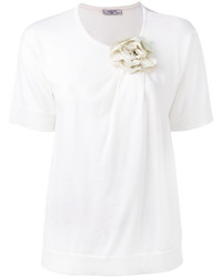 Lanvin Flower Embellished T Shirt