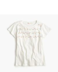 J.Crew Girls Embellished Stripe T Shirt