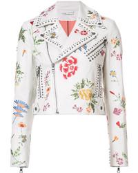 Alice + Olivia Aliceolivia Floral Embroidery Biker Jacket