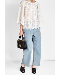Burberry Embroidered Cotton Blouse