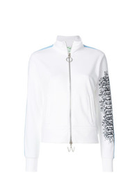 Off-White Embroidered Zip Up Track Jacket
