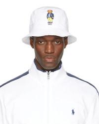 Polo Ralph Lauren White Bear Bucket Hat