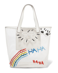 Anya Hindmarch Med Embroidered Mesh Tote