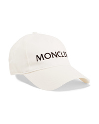 Moncler Embroidered Cotton Twill Baseball Cap