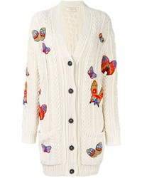 Valentino Jamaican Butterfly Applique Cardigan