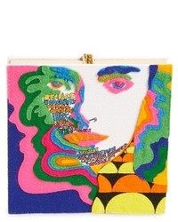 Olympia Le-Tan Square Face Book Clutch