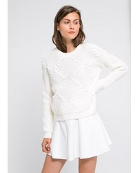 Embossed embellisht sweater medium 132669