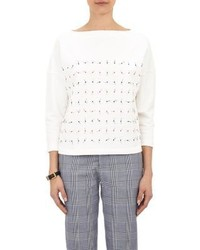 Band Of Outsiders Embroidered Boxy Sweatshirt