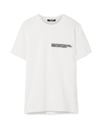 Calvin Klein 205W39nyc Embroidered Cotton Jersey T Shirt