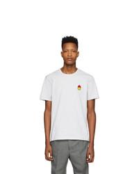 AMI Alexandre Mattiussi Grey Smiley T Shirt