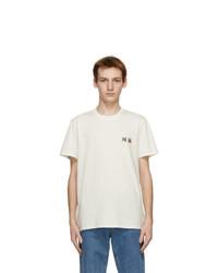 MAISON KITSUNÉ Off White Double Fox Head Classic T Shirt